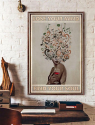 Lose Your Mind Find Your Soul Music And Wine Art Home Decor Poster No Frame $14.95