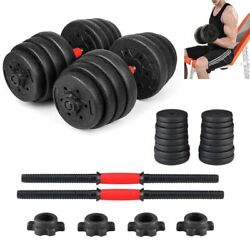 Weight Dumbbell Set Empty Rubber Adjustable Gym Barbell Body Home Workout $77.99