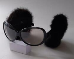 Rare Fendi Sunglasses Earmuffs Mink Real Fur From JAPAN No.42289 $861.06