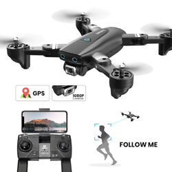 GPS drone S167 1080P HD wifi camera quadcopter foldable 2 batteries FPV selfie $119.99