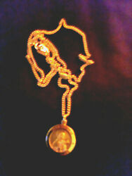ST. THERESA GOLD TONE NECKLACE $18.00