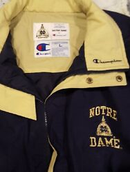 Vintage Champion for Notre Dame Jacket Embroidery Men Size Large $48.86