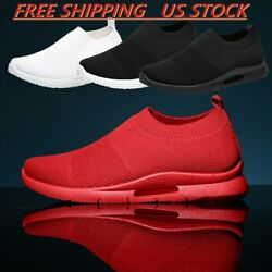 Men#x27;s Casual Slip On Running Sneakers Lightweight Athletic Tennis Shoes Walking $19.99