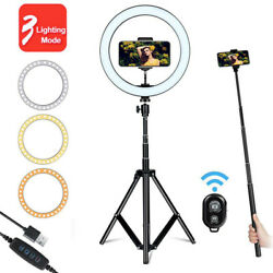 LED Ring Light W Tripod Stand Phone Holder Selfie Stick For Live Photo Makeup  $32.99