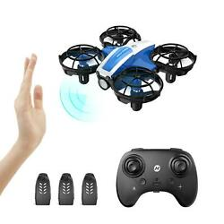 Holyton HS330 Hand Operated Mini Drone 3 batteries altitude hold quadcopter gift $26.99
