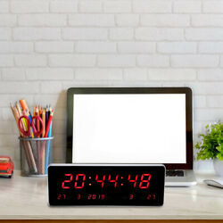 LED Digital Large Big Jumbo Clock Wall Living Room Desk Calendar Temp Clock $34.69