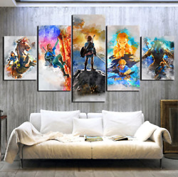 The Legend Of Zelda Pictures Game Canvas Prints Painting Modern Decor 5 Pieces $28.90