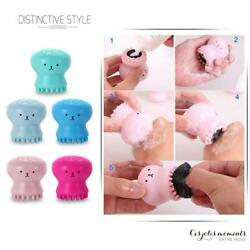 Lovely Octopus Silicone Facial Cleansing Brush Face Care Washing Massage Tool US $4.99