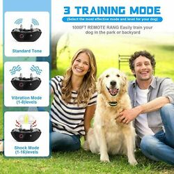 Dog Training Collar Shock Remote Waterproof Rechargeable 880 Yard Pet Large New $37.99