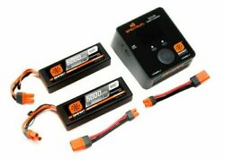 Smart Powerstage Bundle 4S: 2 X 7.4v Lipo RC Car Batteries IC5 With RC Charger $259.99