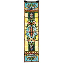 Blackstone Hall Stained Glass Window Design Toscano Hand Crafted Art Glass $183.99