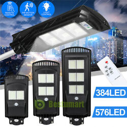 9000000LM 250W Solar LED Street Light PIR Commercial Outdoor IP67 Area Road Lamp