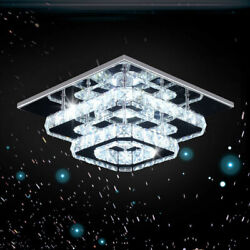 Crystal LED ceiling lamp Crystal pendant lamp Modern embedded installation lamp $64.99