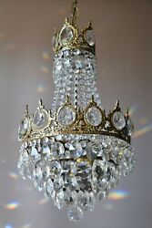 Antique Vintage Crystal Chandelier French Pendant Home Living Interior lamp GBP 725.00