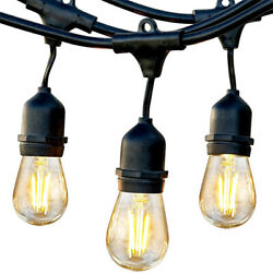Brightech Ambience Pro Edison Black LED Waterproof Outdoor String Lights 24 Ft.