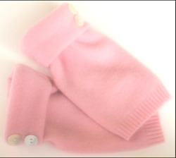 FINGERLESS GLOVES PINK 100% CASHMERE ONE SIZE FITS MOST S M L WOMEN#x27;S TEXTING $28.49