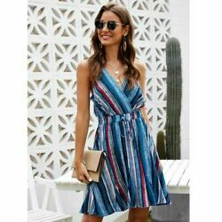 Women#x27;s Maxi Sleeve Loose Evening Party Dresses Casual Dress V Neck Cocktail $18.12