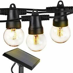 Brightech Ambience Pro Waterproof Solar LED Outdoor String Lights – 1W Retr...