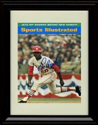 Framed Lou Brock 1967 Sports Illustrated Cover St Louis Cardinals Autograph $13.99