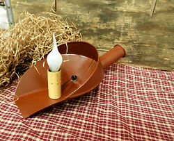 Country Farmhouse Style Metal Kitchen Scoop Lamp Red Silicone Bulb Country Lamp $10.00