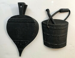 Vintage Sexton Black Cast Iron Metal Kitchen Decor Wall Hangings Made In USA $7.95