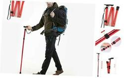 Folding Walking Stick Hiking Poles Collapsible Lightweight Folding Canes Adju $19.90