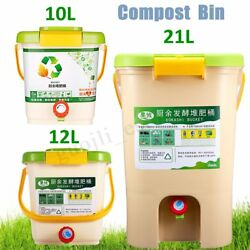 10 21L Recycle Composter Aerated Compost Bin Bokashi Bucket Kitchen Food CA3 C $50.61