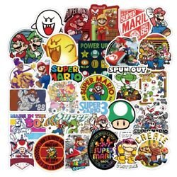 50pcs Super Mario Kart Removable Wall Decal Stickers Luggage Laptop Bottle Party $7.99