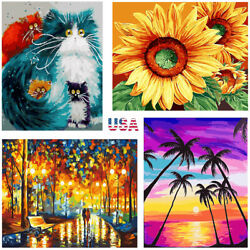DIY Paint By Numbers Kit Acrylic Digital Oil Painting on Canvas Wall Home Decor $8.99