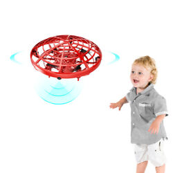 Mini Drone Flying Toy Hand Operated Drones LED RC Helicopter for Kids or Adults $16.99