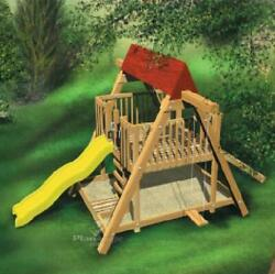 Playhouse Slide Plans DIY Children Outdoor Kids Swing Sandbox Wood Playground $5.90