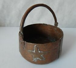 Vintage Very Small Copper Pail $14.95