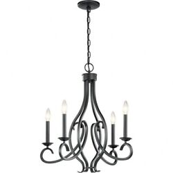 Kichler Lighting 52239BK Ania 4 Light Small Chandelier Black Finish $169.99