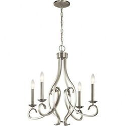 Kichler Lighting 52239NI Ania 4 Light Small Chandelier Brushed Nickel Finish $169.99