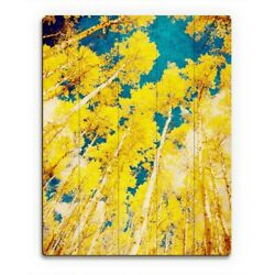Golden Forest Wall Art on Wood $378.95