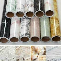 Waterproof Marble Contact Paper Kitchen Self Adhesive Vinyl Roll Wall Sticker US $6.69