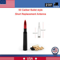 50 Cal Red Bullet Antenna Heavy Gauge CNC Machined Billet Short For Ford F150 $9.99