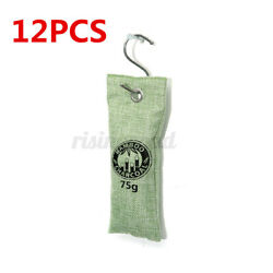 12PCSAir Purifying Bag Nature Fresh Charcoal Bamboo Purifier Mold Odor Breath $17.53