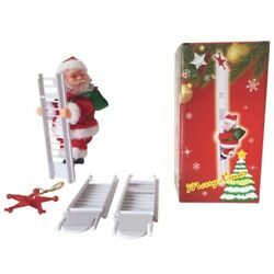 Climbing Santa Claus Ladder Doll Hanging Ornaments Home Christmas Tree Decor