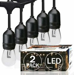 48ft LED Outdoor String Light with 0.9W Shatterproof for Commercial Light String