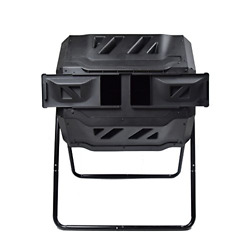 EJWOX Large Composting Tumbler Dual Rotating Outdoor Garden Compost Bin BPA $141.60