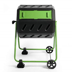 FCMP 37 Gallon Dual Chamber Quick Curing Outdoor Compost Tumbler Bin $193.66