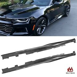 ZL1 Style Side Skirts For 2016 2020 Chevy Camaro SS RS LT Extension Black $109.99