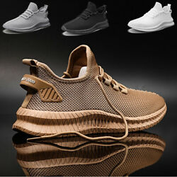 Men#x27;s Casual Athletic Jogging Sneakers Outdoor Spots Running Tennis Gym Shoes $22.99