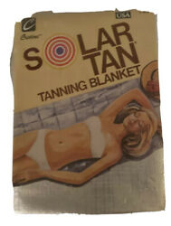Vintage Large Solar Sun Tanning Blanket Silver UV Reflective Cooling Beach Pool
