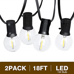 Svater Led Outdoor String Lights 2x18FT with 10 Hanging Socket 2x10 G40 LED 1W $38.88
