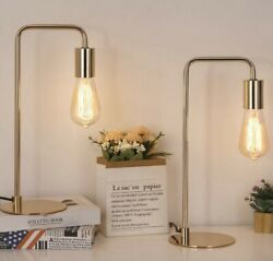 Industrial Table Desk Lamps Set of 2 Modern Bedside Lamps for Night Table $99.99