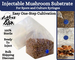 Mushroom Substrate Grow Bag Injectable All In One Sterilized Rye amp; Oat 1.5 lb $10.95