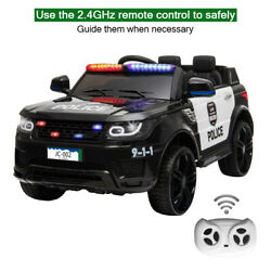 Electric 12V Ride On Police Car Kids SUV Toys Music Light with Remote Control $167.99