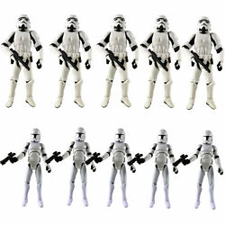 Lot 2 10 Star Wars 3.75quot; Stormtroopers OTC Trilogy amp; No.5 Clone Trooper Figures $19.99